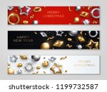 christmas and new year banners... | Shutterstock .eps vector #1199732587