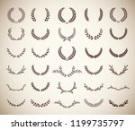 collection of thirty round... | Shutterstock .eps vector #1199735797