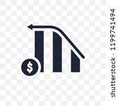 increasing stocks transparent... | Shutterstock .eps vector #1199741494