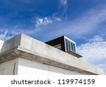 Unsold villa with blue sky background, shell core villa awaiting the potential buyer - stock photo