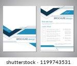 vector modern brochure. design... | Shutterstock .eps vector #1199743531