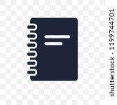 agenda transparent icon. agenda ... | Shutterstock .eps vector #1199744701
