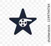 hollywood star transparent icon.... | Shutterstock .eps vector #1199744764