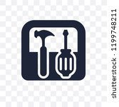 toolbox transparent icon.... | Shutterstock .eps vector #1199748211