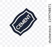 cement transparent icon. cement ... | Shutterstock .eps vector #1199748871