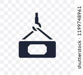 hook with cargo transparent...   Shutterstock .eps vector #1199748961