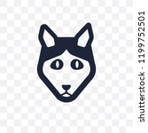 husky dog transparent icon.... | Shutterstock .eps vector #1199752501