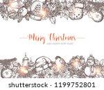 merry christmas holiday vector... | Shutterstock .eps vector #1199752801