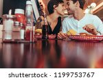 Romantic Couple At A Diner...