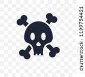 jolly roger transparent icon.... | Shutterstock .eps vector #1199754421