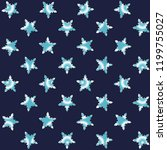 cyan snowflakes on a blue... | Shutterstock .eps vector #1199755027
