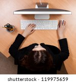 woman at the work place | Shutterstock . vector #119975659