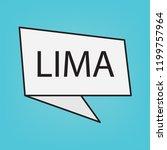 lima word on a sticker  vector...   Shutterstock .eps vector #1199757964