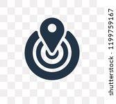 positioning vector icon... | Shutterstock .eps vector #1199759167