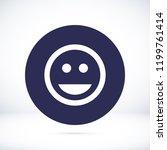 smile icon stock vector... | Shutterstock .eps vector #1199761414