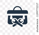 toolbox vector icon isolated on ... | Shutterstock .eps vector #1199772217