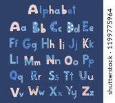 vector cute alphabet letters set | Shutterstock .eps vector #1199775964