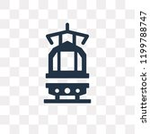 tram front view vector icon... | Shutterstock .eps vector #1199788747