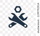 wrench and nut vector icon... | Shutterstock .eps vector #1199792914