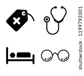 set of 4 simple vector icons... | Shutterstock .eps vector #1199793301