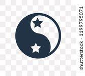 yin yang vector icon isolated... | Shutterstock .eps vector #1199795071