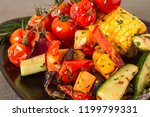 grilled vegetables with salt... | Shutterstock . vector #1199799331
