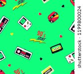 90's stuff pattern  | Shutterstock .eps vector #1199800024