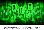 matrix green background with... | Shutterstock .eps vector #1199802454