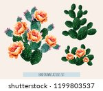 beautiful vector floral summer... | Shutterstock .eps vector #1199803537