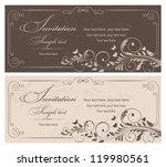 wedding invitation cards... | Shutterstock .eps vector #119980561