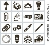 set of 16 tool filled icons...   Shutterstock .eps vector #1199807677