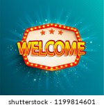 the welcome retro banner with... | Shutterstock .eps vector #1199814601