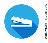 stapler icon with long shadow.... | Shutterstock .eps vector #1199819647