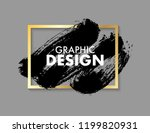 black vector brush stroke with... | Shutterstock .eps vector #1199820931