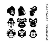 Gorilla Head Vector  Monkey...