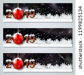 christmas and new year 2019... | Shutterstock .eps vector #1199825134