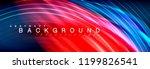 fluid color wave line... | Shutterstock .eps vector #1199826541