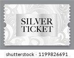 silver ticket vector... | Shutterstock .eps vector #1199826691