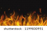 translucent fire flame with... | Shutterstock .eps vector #1199830951