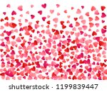 red flying hearts bright love... | Shutterstock .eps vector #1199839447