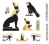 set of ancient egypt... | Shutterstock .eps vector #1199842684