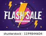 flash sale banner template... | Shutterstock .eps vector #1199844604