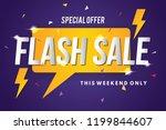 flash sale banner template...   Shutterstock .eps vector #1199844607