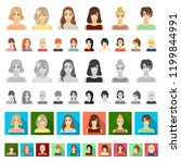 women s clothing cartoon icons... | Shutterstock .eps vector #1199844991