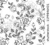 vintage flowers roses. seamless ...   Shutterstock .eps vector #1199846431
