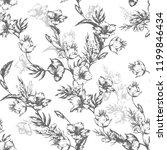 vintage flowers clematis....   Shutterstock .eps vector #1199846434