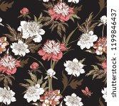 vintage flowers peonies....   Shutterstock .eps vector #1199846437