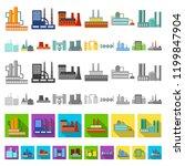 factory and facilities cartoon...   Shutterstock .eps vector #1199847904
