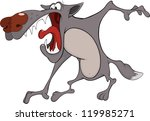 wolf. cartoon | Shutterstock . vector #119985271