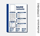 cv simple design | Shutterstock .eps vector #1199854861